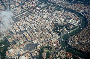 La vista della capitale d'Italia si possono osservare vari monumenti di questa città bellissima